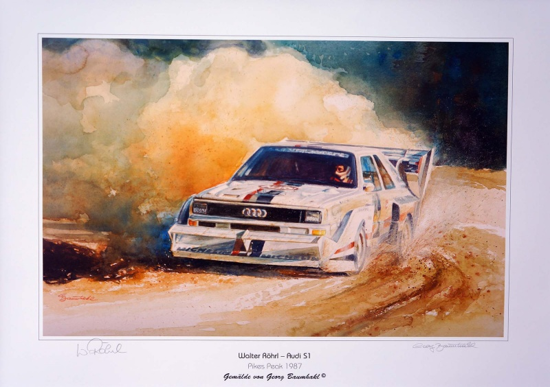 Audi Sport quattro E2 Pikes Peak Version, Walter Röhrl, Race To The Clouds 1987